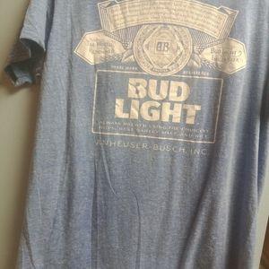 Large Bud Light T-Shirt.